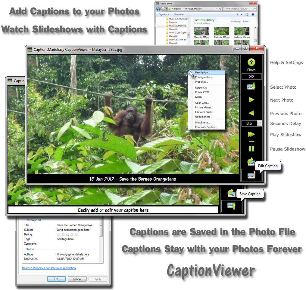 Click to view CaptionsMadeEasy CaptionViewer 1.2.1 screenshot